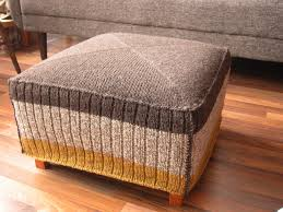 Knitted Ottoman Knitted Ottoman Cover The Knit Cafe