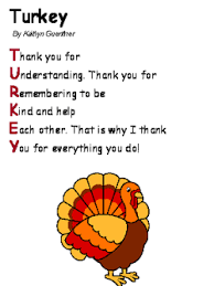 turkey acrostic poem