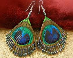peacock feather earrings peacock feather earrings dangle drop abalone chandelier