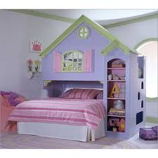 Dollhouse Bed For Girls by Princess Dollhouse Style Girls Loft Bunk Bed Storagebedset