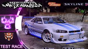 nissan skyline 2005 2fast 2furious nissan skyline gtr r34 nfs most wanted 2005 mod