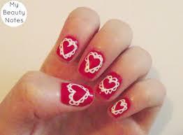 nail art scallop hearts with title heart nail art diy i designs
