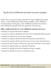 bunch ideas of early childhood assistant resume sample on resume