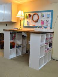 Diy Craft Desk With Storage by Closetmaid Cubeicals Basement Google Search Basement Remodel