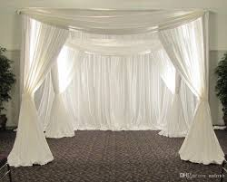 3m 3m 3m white color square canopy drape chuppah arbor drape with