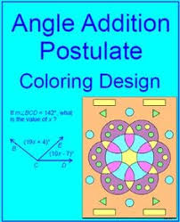 line segments segment addition postulate coloring activity 1