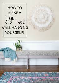 diy juju hat feather wall hanging the chronicles of home how to make a gorgeous unique textural juju hat for your walls such