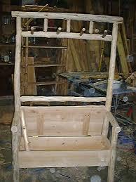 cedar log coat rack and coat trees rustic log furniture