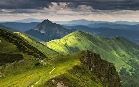 superb green mountains wallpaper 24611