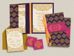 contemporary indian wedding invitations contemporary jewels indian wedding invitations purple and