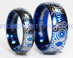 doctor who wedding ring we custom engrave tungsten rings c9ttungsten by c9ttungsten