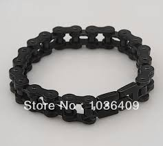 mens stainless steel chain bracelet images Black stainless steel mens motorcycle bike chain bracelet in chain jpg