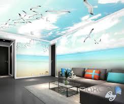 3d seagulls beach heart sunny day entire room wallpaper wall 3d seagulls beach heart sunny day entire room wallpaper wall murals prints idcqw 000122