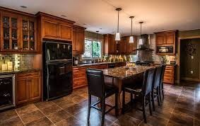 kitchens with black appliances and oak cabinets kitchen with black appliances and oak cabinets comedores