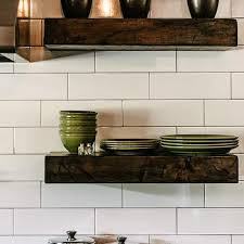 Thick Wood Floating Shelves by Chunky Floating Shelves Design Ideas