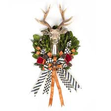 mackenzie childs stag wreath 17 34704 005