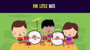5 little bats song for kids halloween songs for children the
