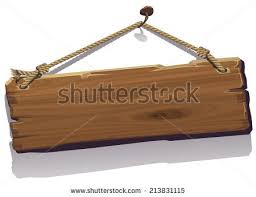 vector illustration wood board on rope stock vector 213831115