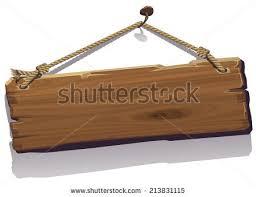 wood board vector illustration wood board on rope stock vector 213831115
