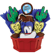 Cookie Bouquets Western Cookie Bouquet Cookies By Design