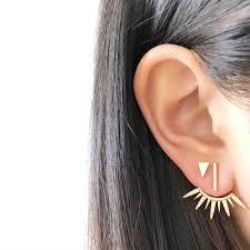 ear earings cz bar ear jacket kikichic new york luxury minimalist