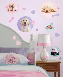 Dog Bedroom Ideas by Puppy Dogs Wall Decals Stickers Pink Purple For Girls Kids Room