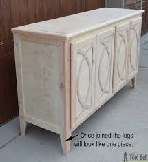 Small Kitchen Buffet Cabinet by Diy Buffet Sideboard With Circle Trim Doors Her Tool Belt