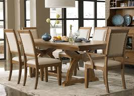 dining room dark wood parson dining chairs with trestle dining