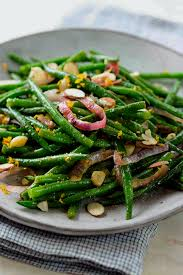 green beans with citrus and almonds thanksgiving