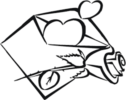 envelope coloring page getcoloringpages com