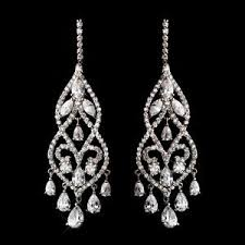 earrings for prom dramatic silver plated cubic zirconia cz chandelier bridal prom