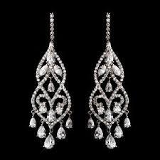 Cubic Zirconia Chandelier Earrings Dramatic Silver Plated Cubic Zirconia Cz Chandelier Bridal Prom