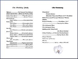 word template for wedding program wedding program templates from thinkwedding s print your own
