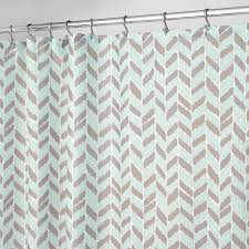 Interdesign Bathroom Accessories by Shop Interdesign Nora Polyester Taupe Mint With A Herringbone