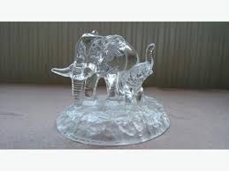 unique cut glass animals elephant figurine ornament