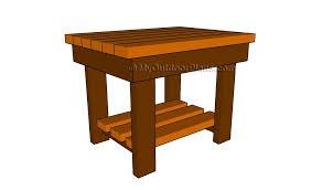 outdoor end table plans myoutdoorplans free woodworking plans