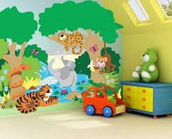 deco chambre enfant jungle design interieur design chambre enfant décoration murale animaux