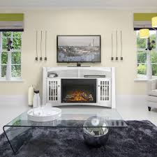 adele electric fireplace media console in white nefp27 0815w