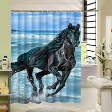 new waterproof horse shower curtain great bathroom curtains for