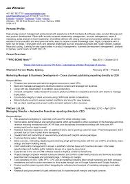 Best Product Manager Resumes by Resume B2b Marketing Manager Marketing Manager Resume Example