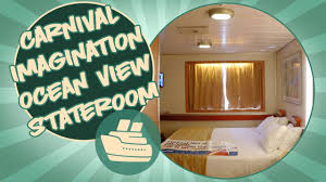 carnival stateroom tour carnival imagination ocean view