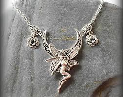 fairy pendant necklace images Fairy jewelry etsy jpg