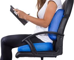 Back Support Pillow For Office Chair Pharmedoc Coccyx Lumbar Seat Cushion Combo U2013 2 Pack Cushions