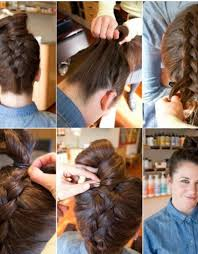 braided hairstyle instructions step by step braided bun hairstyles instructions hollywood official