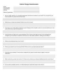 client questionnaire template client questionnaire template