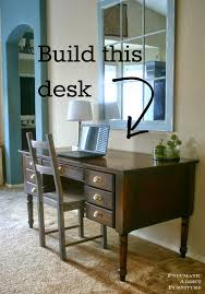 Building A Simple Wooden Desk by 25 Best Solid Wood Desk Ideas On Pinterest Desk With Drawers