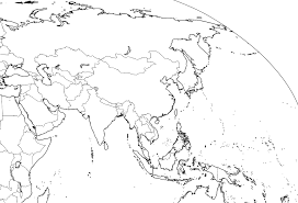 World Blank Map by Asia Outline Map Full Size