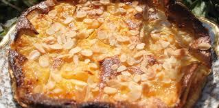 cuisiner les peches clafoutis aux pêches et amandes facile et pas cher recette sur