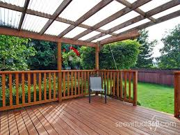 Homemade Deck Awning Deck Roof What Are My Options Roofing Diy Home Improvement