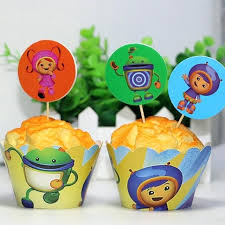 party supply umizoomi birthday supplies team paper cupcake wrappers and toppers
